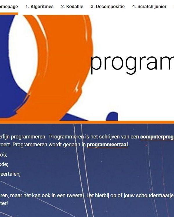 Leerlijn programmeren